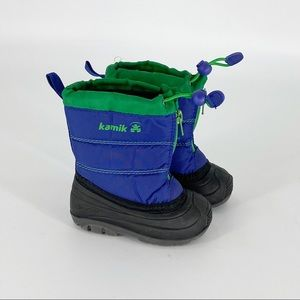KAMIK Winter Snow Boots Baby Size 5 Blue Green